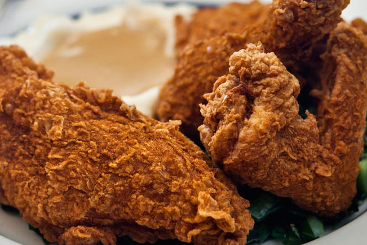 Blue Ribbon Brasserie chicken