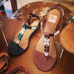 """<a href=""""http://instagram.com/p/bEtsUEiAkm/"""">@shoe_market</a>: """"Beaded sandals from @shopdolcevita available in our Brooklyn store! #shoeoftheday #shoes"""""""