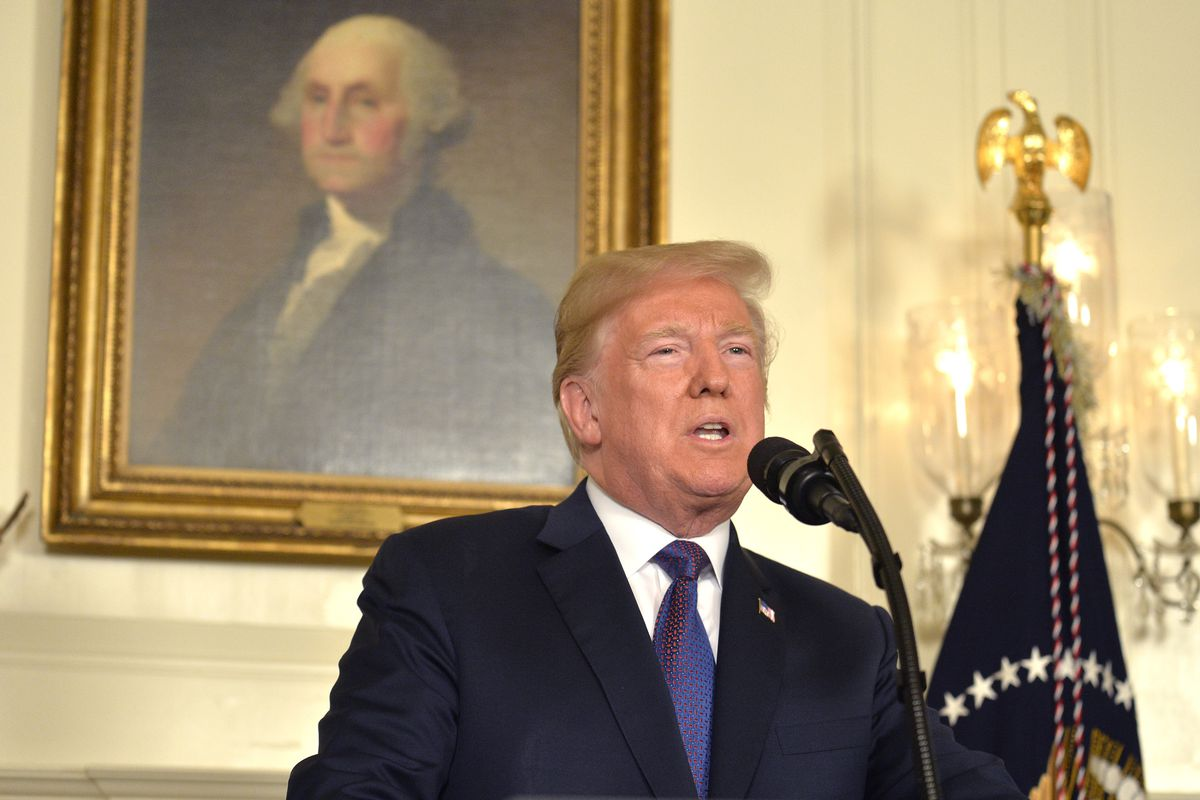 President Trump Announces Military Action Against Syria During Address To The Nation