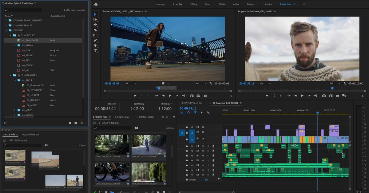 Adobe Premiere Pro Teases Google Drive Like Collaborative Editing The Verge