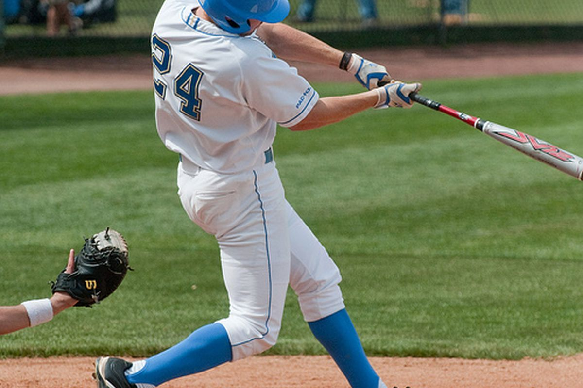 """<em>Brett Krill and his team-mates looking to come through against the Gators in Omaha. Photo Credit: <a href=""""http://www.flickr.com/photos/mark6mauno/4470296157/"""" target=""""new"""">mark6mauno (flickr)</a></em>"""