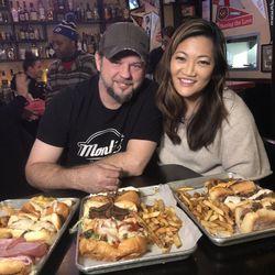 Ji with Monti's Restaurant owner James Gottwald.| Brian Rich/Sun-Times
