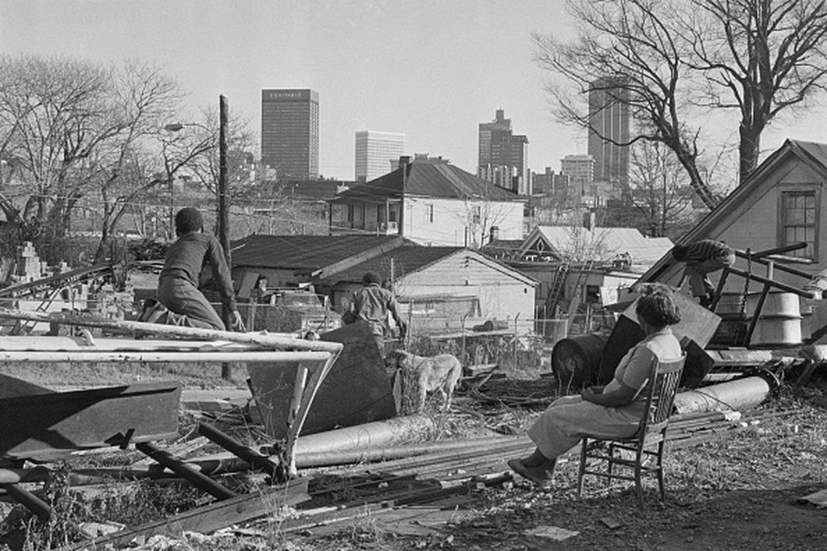 """A scene from what was described as an Atlanta """"slum"""" in 1971."""