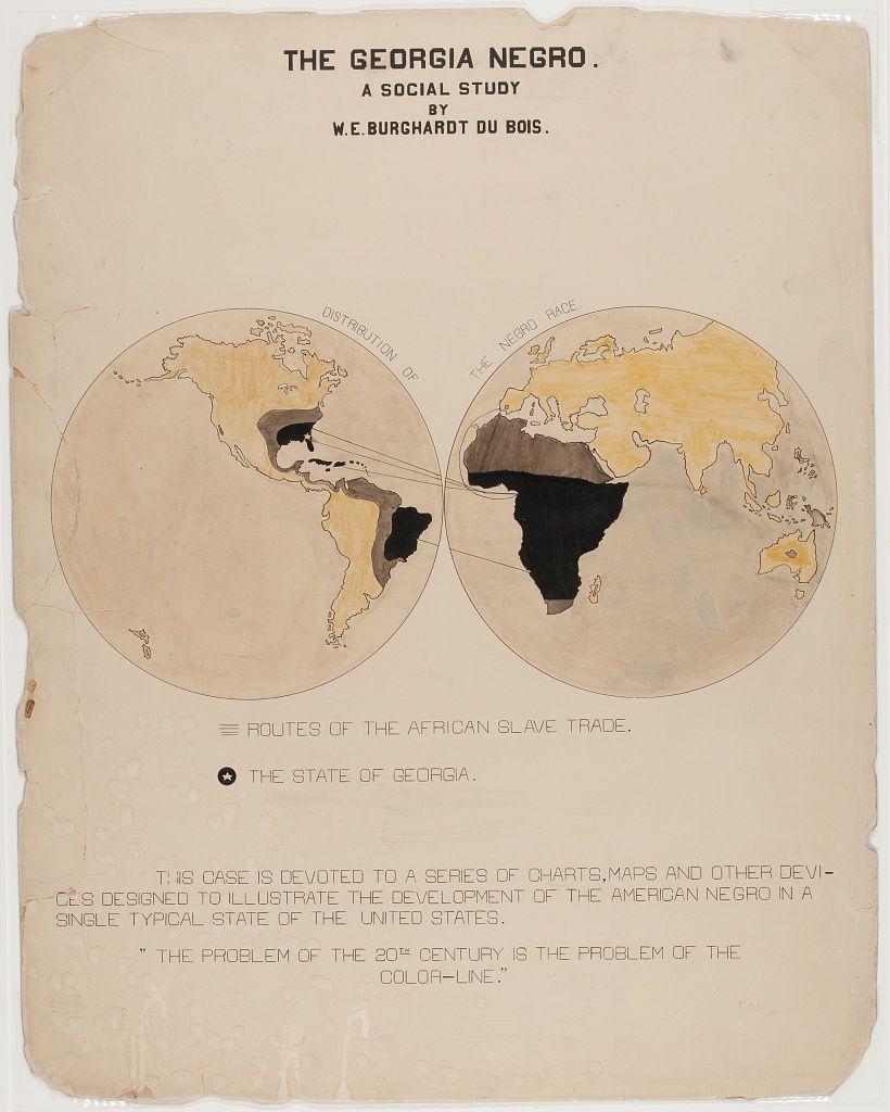 W.E.B. DuBois's unique map.