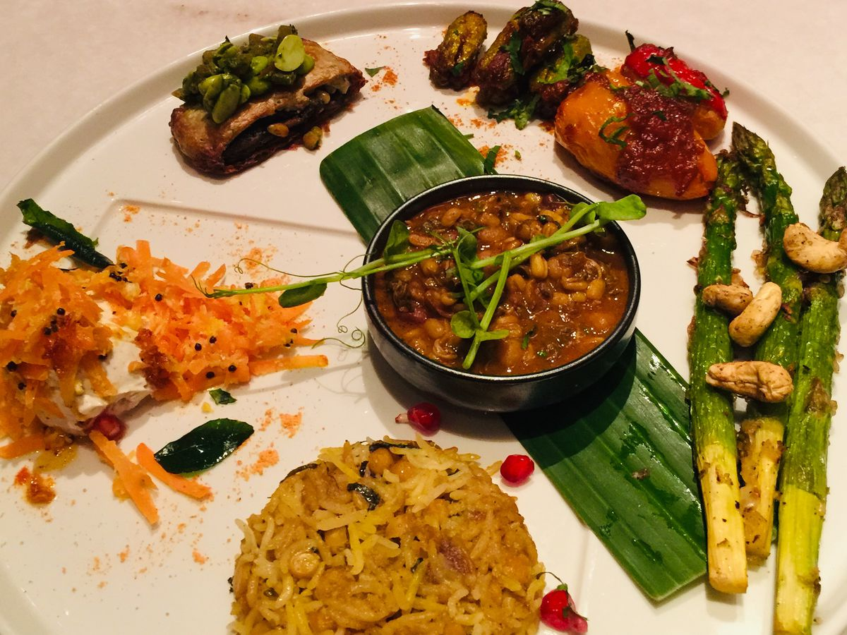 Chutney Mary's thali, one of the best Modern Indian restaurant dishes in London