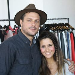 Darrel getting chummy with a Helmut Lang sales rep