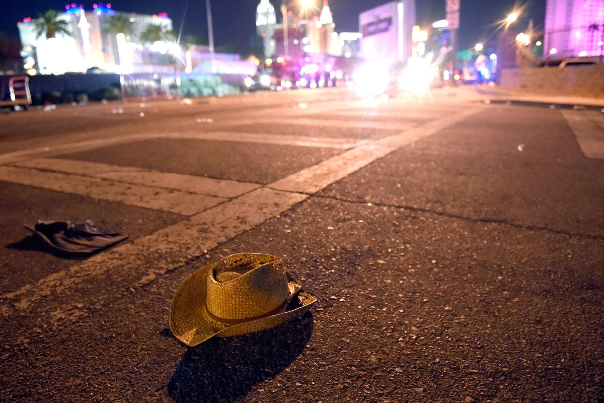 The aftermath of the Las Vegas mass shooting.
