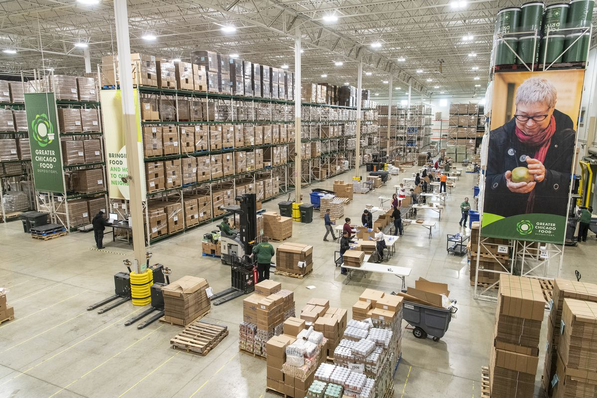 Greater Chicago Food Depository warehouse.