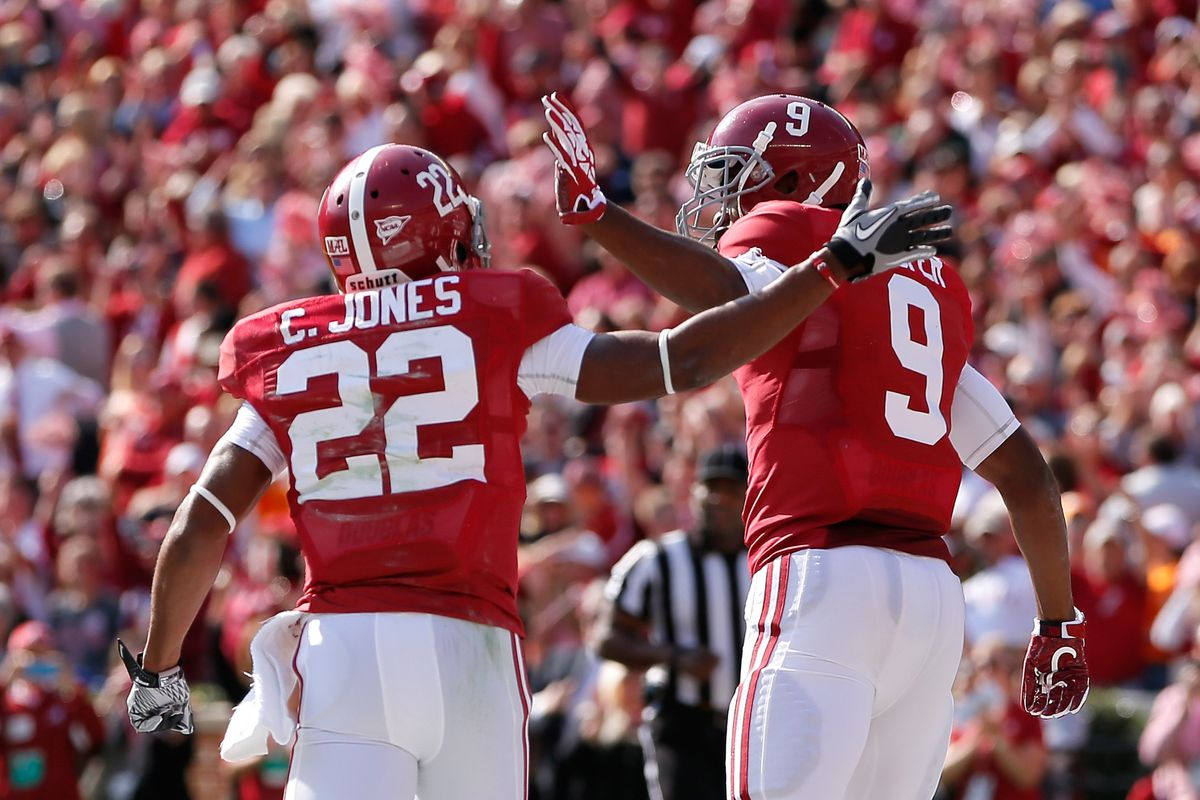 Amari Cooper and Christion Jones will lead a troop of young WRs.