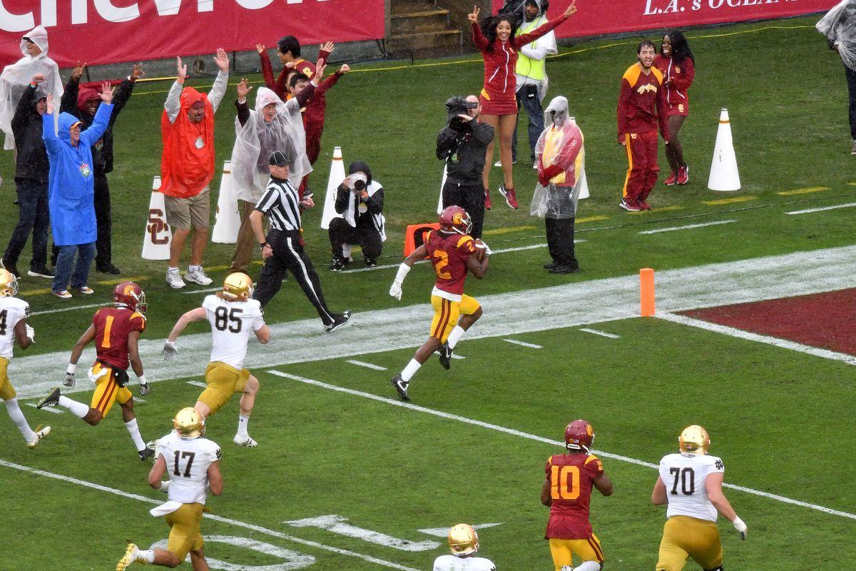 NCAA Football: Notre Dame at Southern California