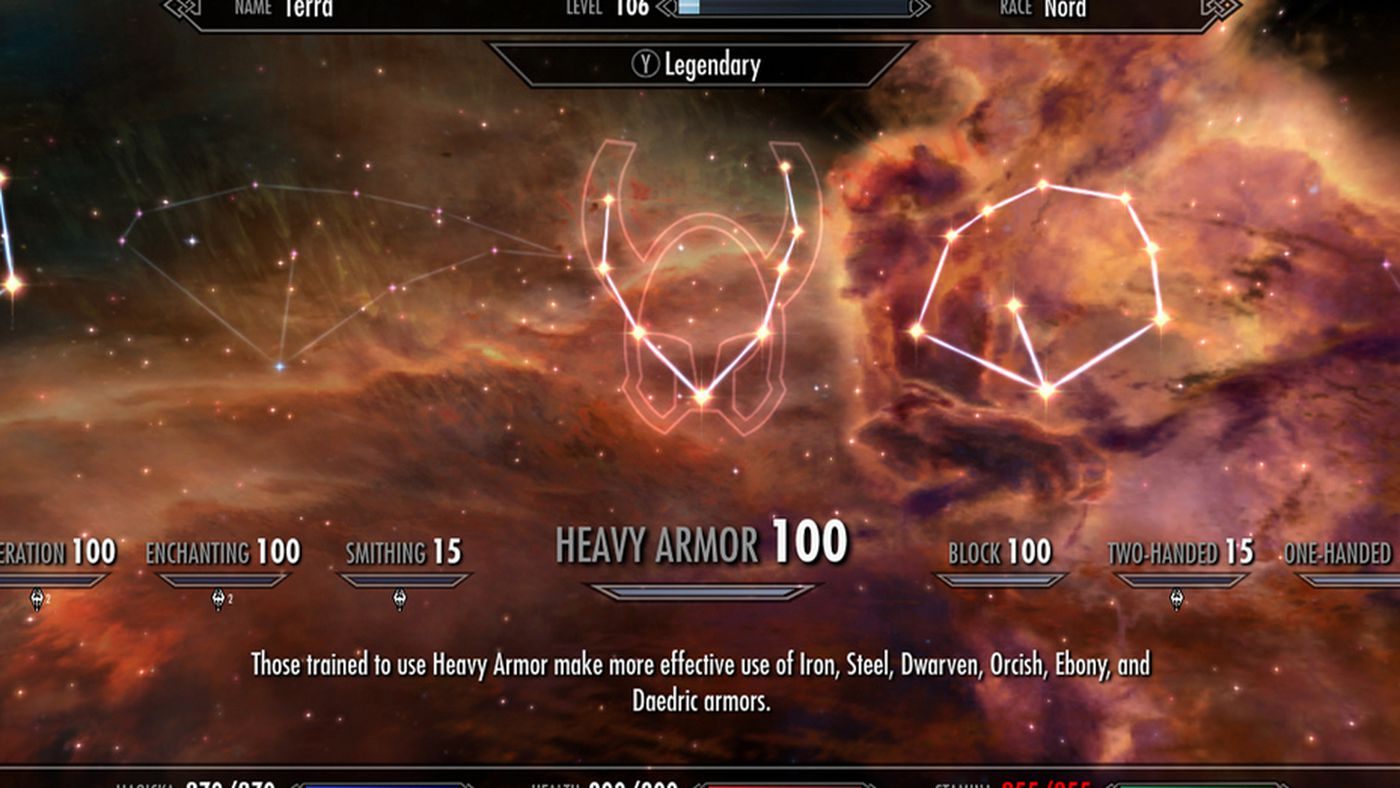 Skyrim update 1 9 adds legendary skills and difficulty