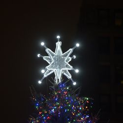 A massive star tops the City of Chicago's official Christmas tree. | Victor Hilitski/For the Sun-Times