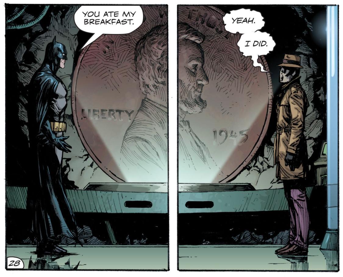 Batman and Rorschach meet for the first time, Doomsday Clock #2, DC Comics 2017.