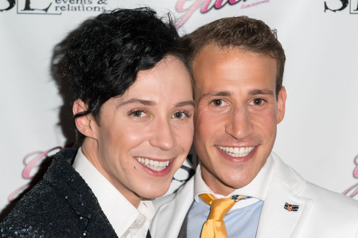 Johnny Weir, left, and Victor Voronov in 2013