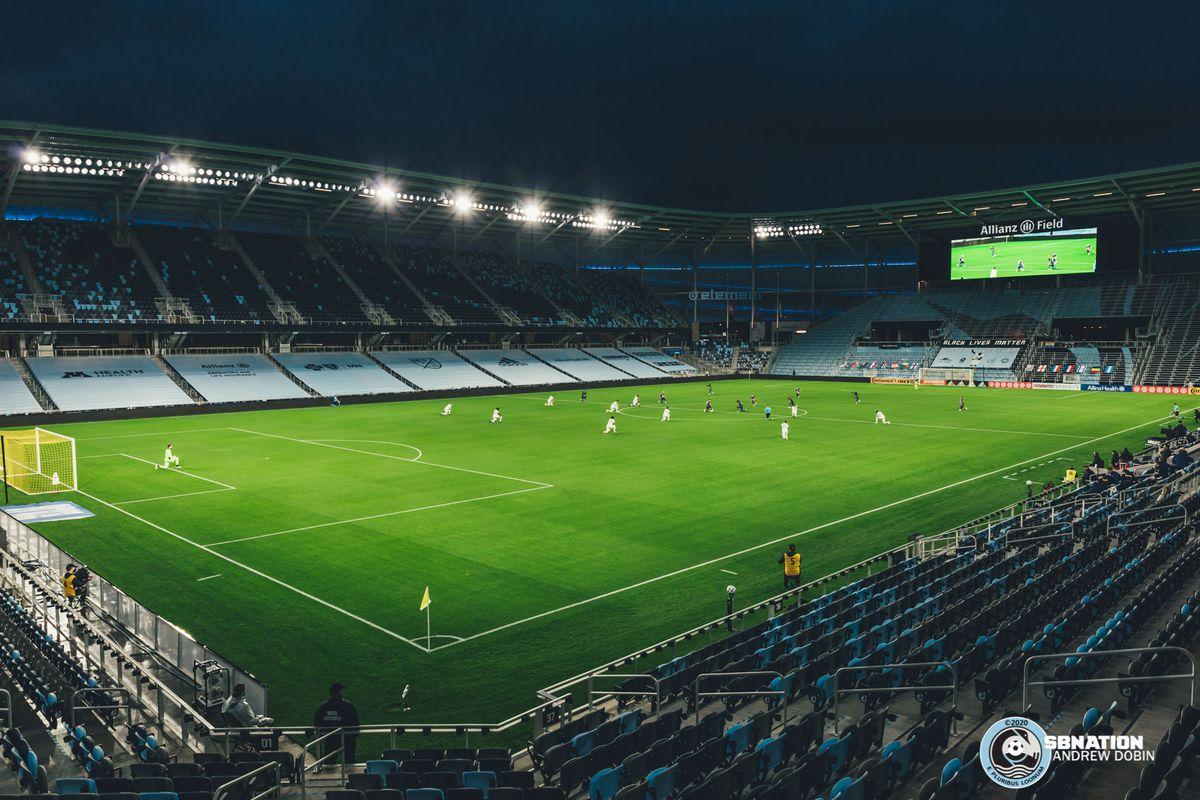 September 27, 2020 - Saint Paul, Minnesota, United States - Scenes during the Minnesota United vs Real Salt Lake match at Allianz Field.