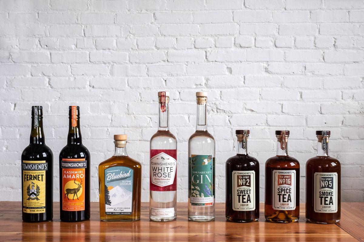 Tea-based spirits at Townshend's Distillery