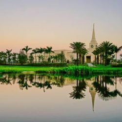 Scott Jarvie is on a mission to capture and compile pictures of every LDS temple in the United States. The Fort Lauderdale Florida Temple is pictured here.