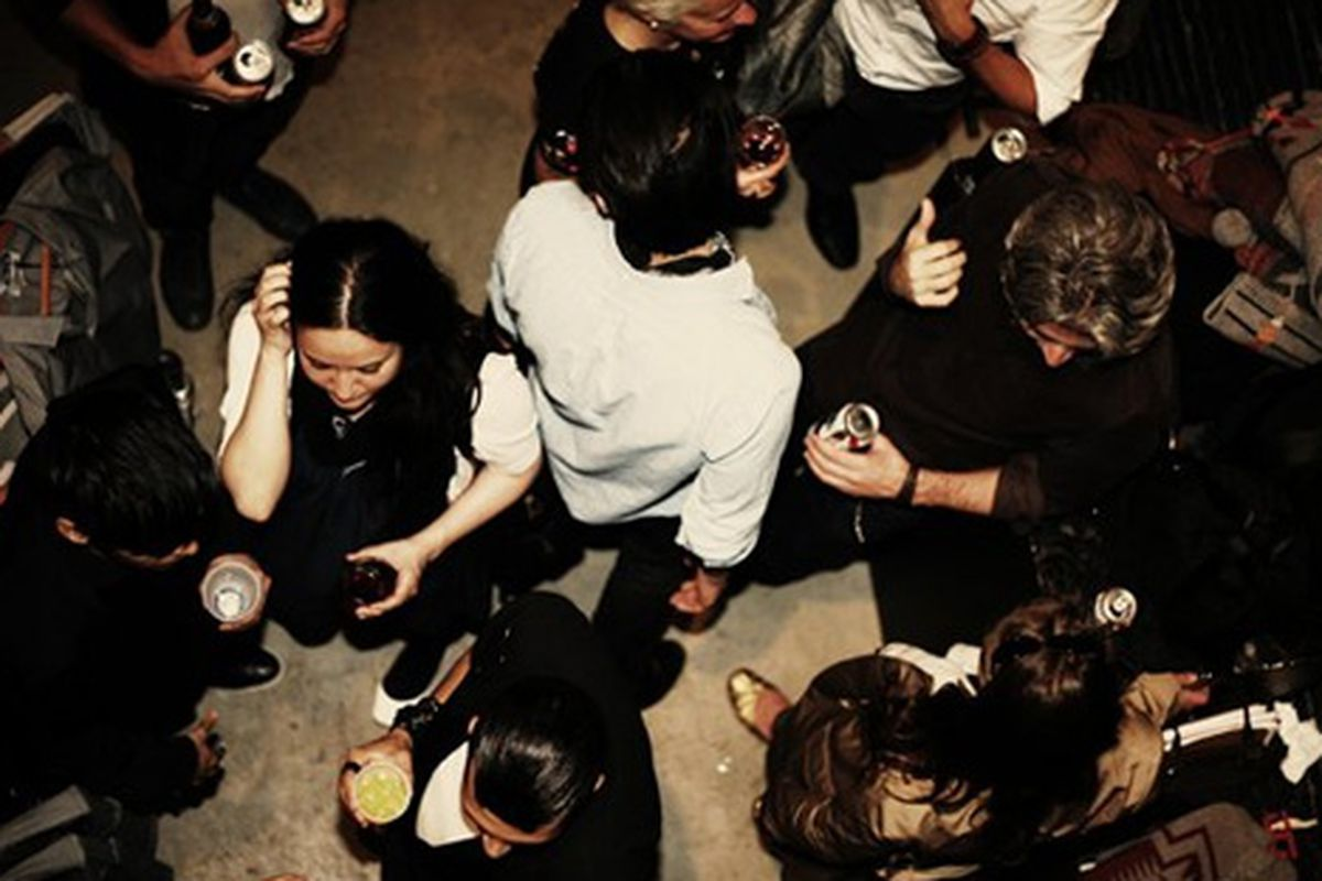 "Buckler's last sale party via <a href=""http://www.facebook.com/album.php?aid=169979&amp;id=48523958204"">Facebook</a>"