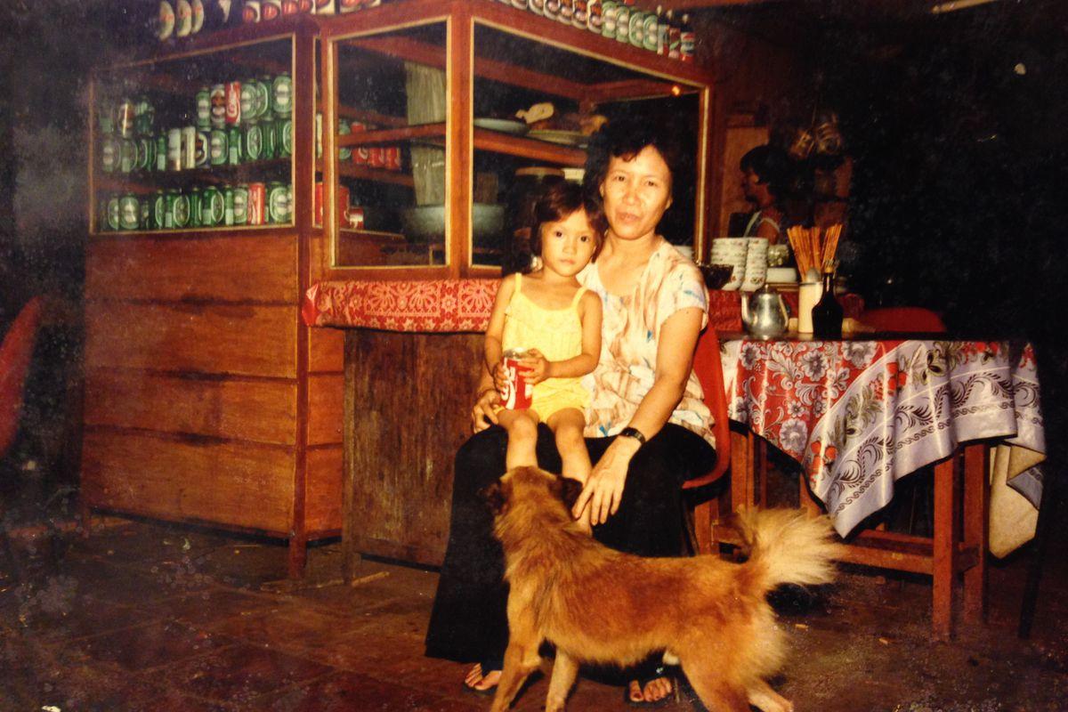 Sera Nguyen with her mother in Vietnam