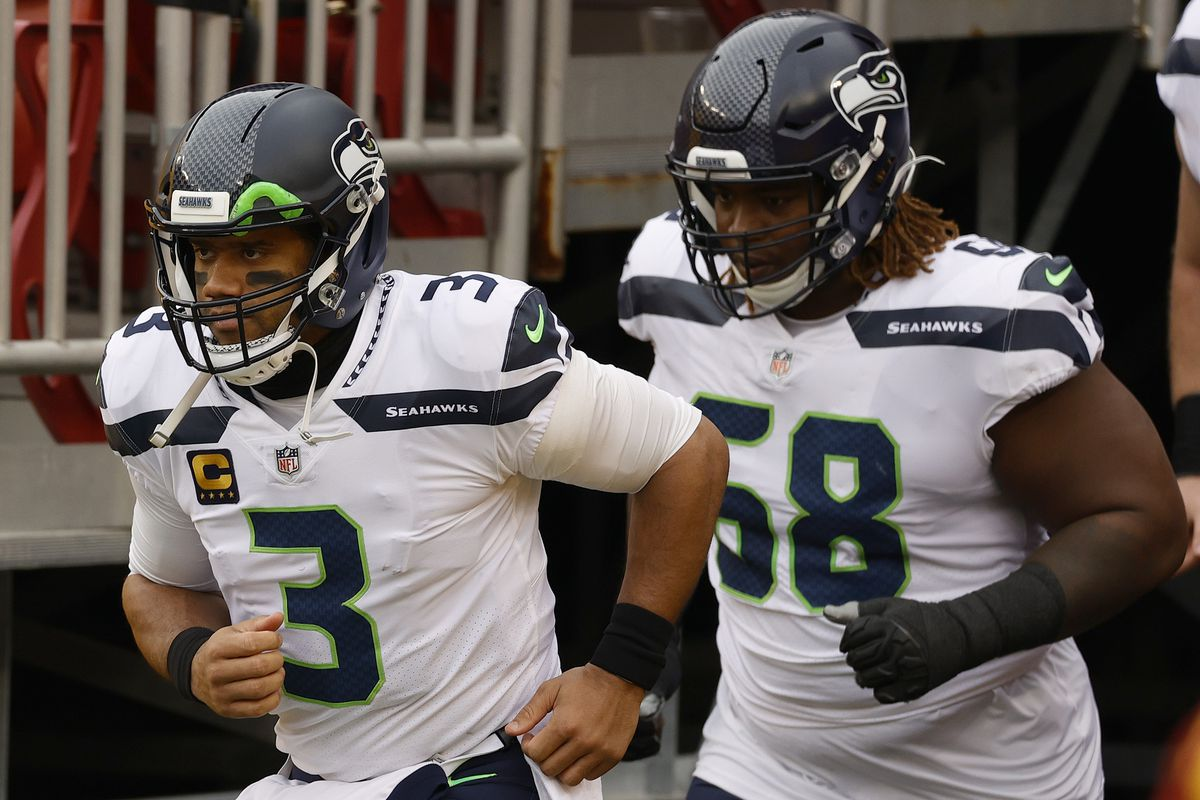 Russell Wilson #3 of the Seattle Seahawks leaves the tunnel prior to taking on the Washington Football Team at FedExField on December 20, 2020 in Landover, Maryland.