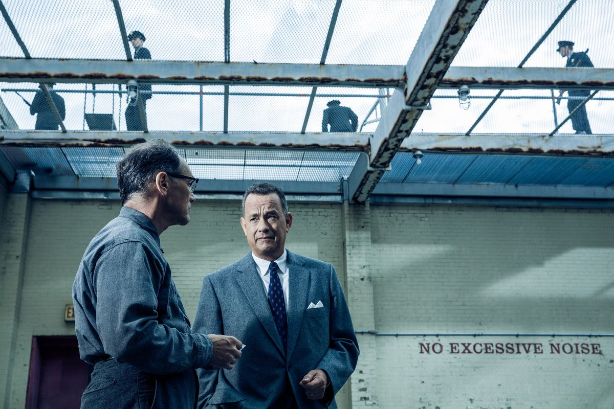 Mark Rylance (left) plays a Soviet spy and Tom Hanks the lawyer asked to defend him in Bridge of Spies, the latest film from Steven Spielberg.