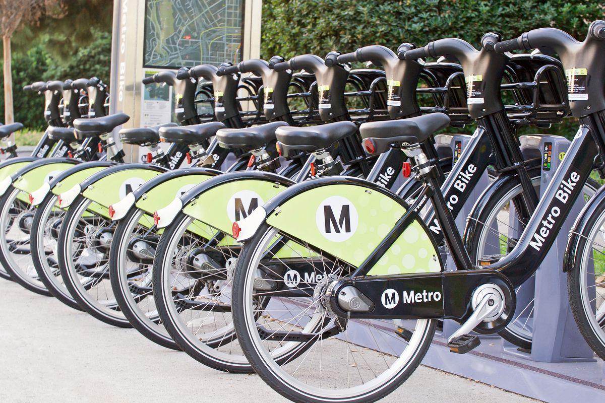 Pasadena bike share bikes