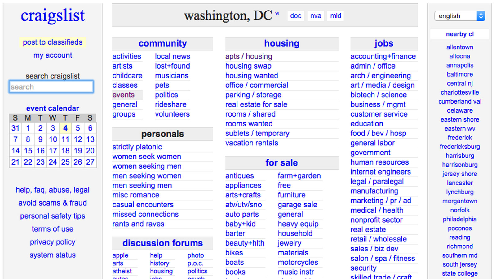 Five Alternatives To Craigslist Where To Rent In DC Right Now - Craigslist poolesville md