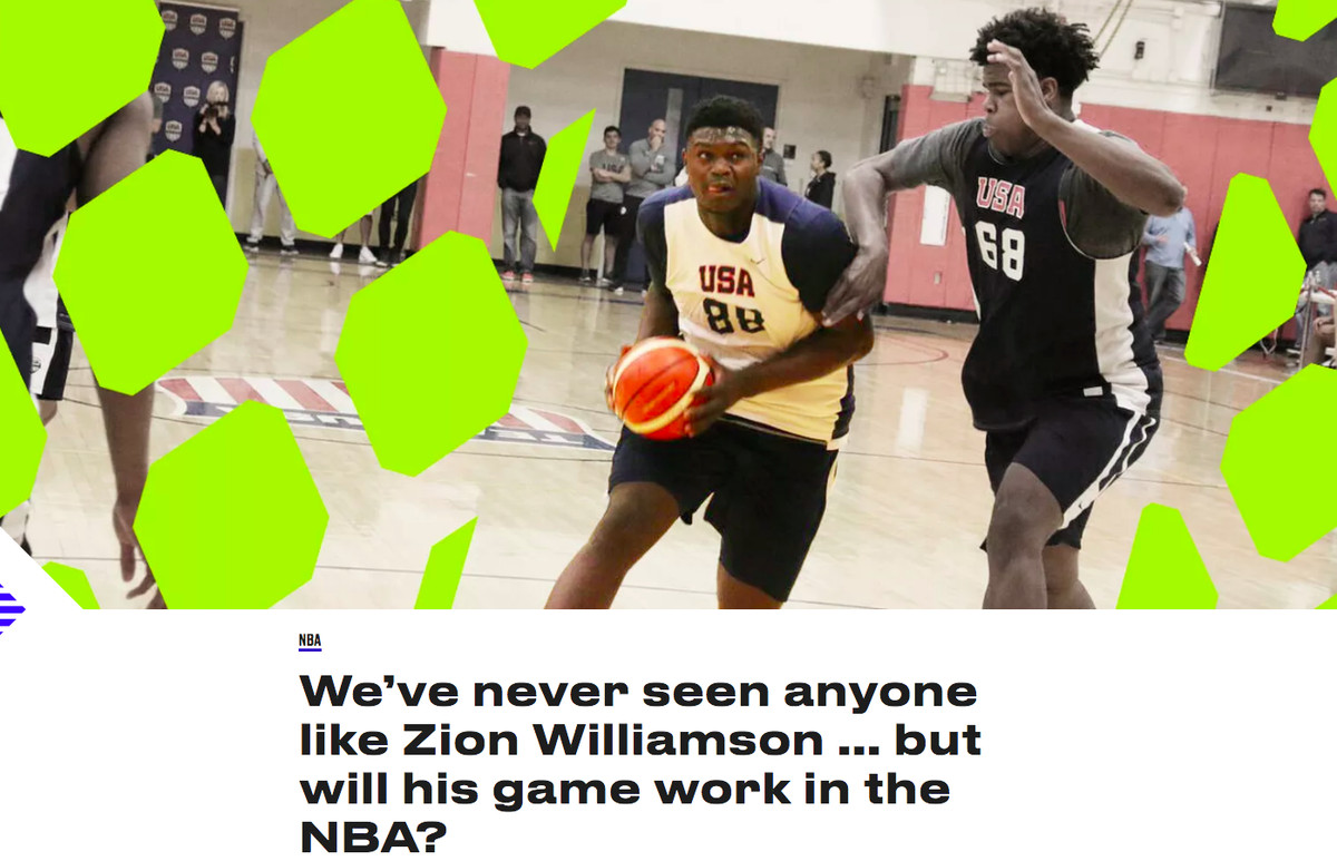 Zion Williamson's NBA Draft transformation, from mixtape