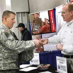 Veterans gather for job fair tailored to them - Deseret News