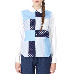 """<b>SHIRT Girl by Comme des Garcons</b> Stripes and Dots Shirt, <a href=""""http://www.openingceremony.us/products.asp?menuid=2&menuid2=1539&designerid=1823&productid=91175"""">$160</a> (from $400) at Opening Ceremony"""