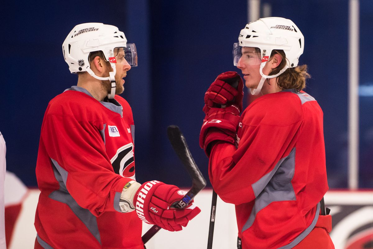 Brock McGinn will make his NHL debut tonight on a line with Eric Staal and Kris Versteeg.