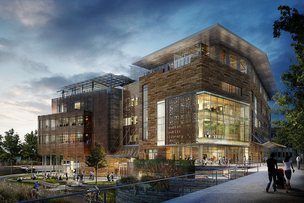 Rendering of the Austin Central Library