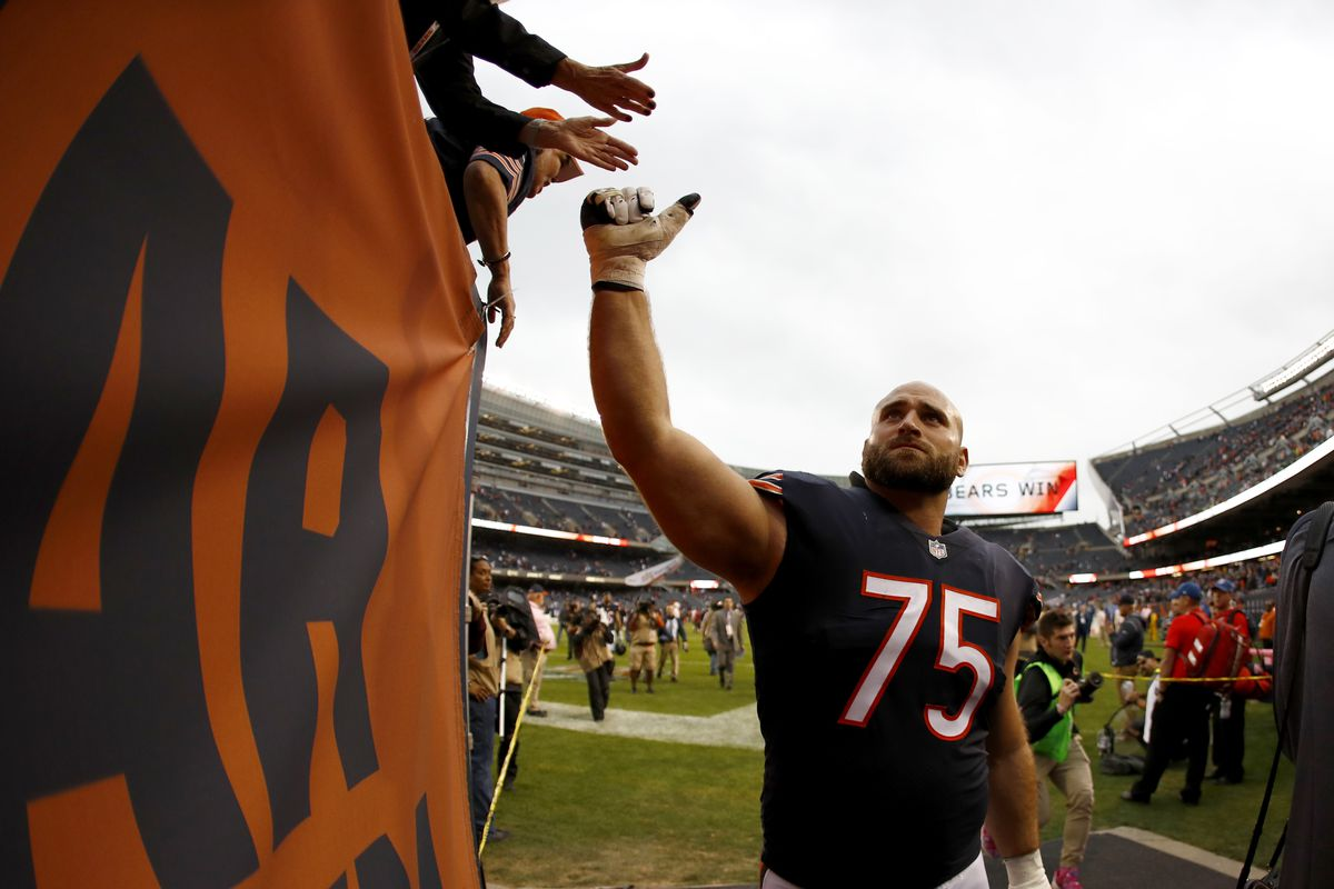 52a497078fe Another up-and-down year could mean the end of Kyle Long in Chicago. Photo  by Wesley Hitt Getty Images