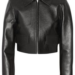 Alexander Wang cropped leather jacket, $379