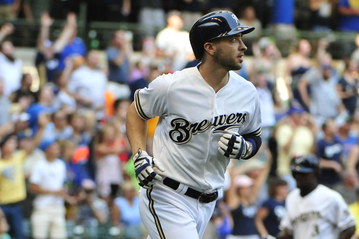 The last survivor of the Brewers outfield, Ryan Braun