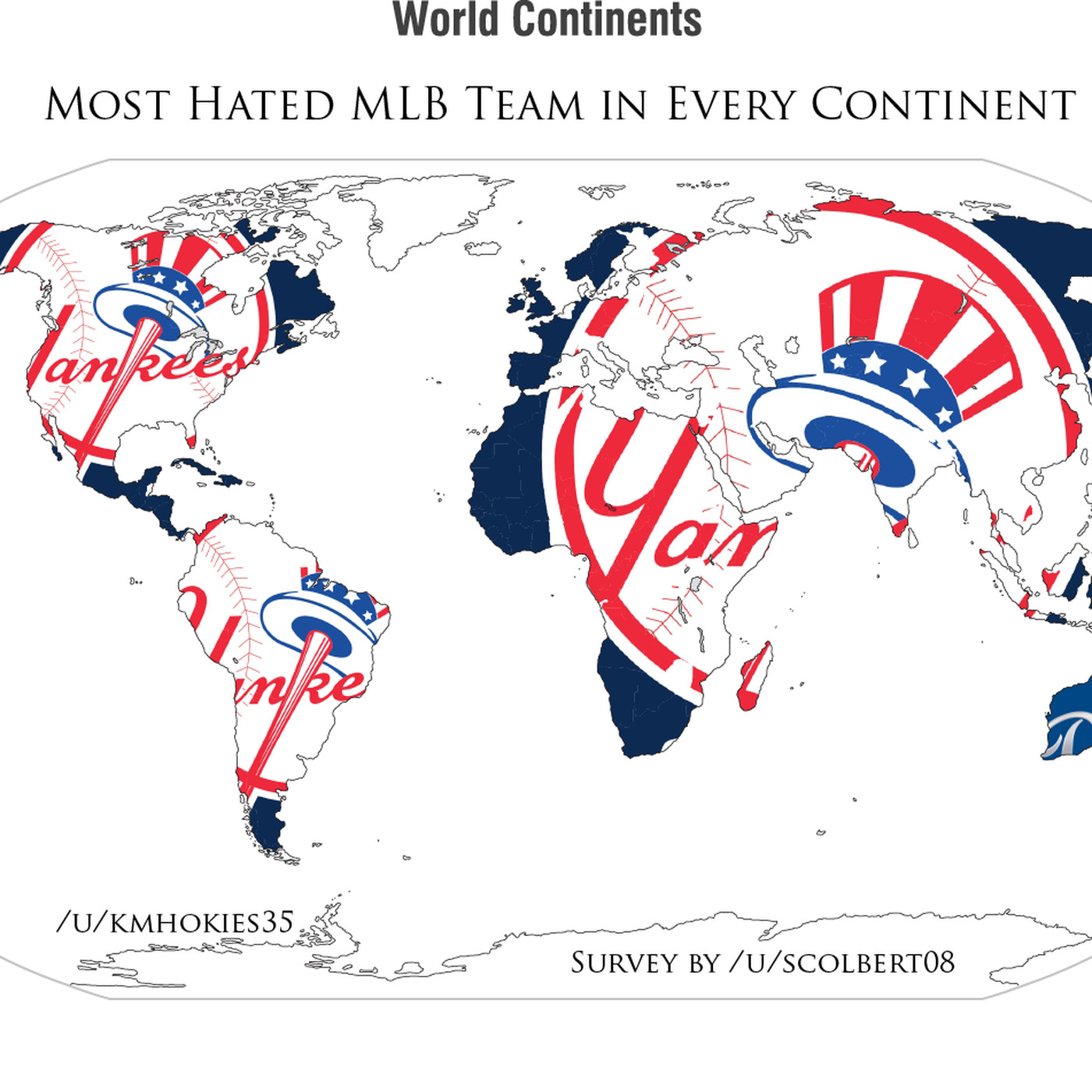 This MLB hate map confirms everyone detests the Yankees ...