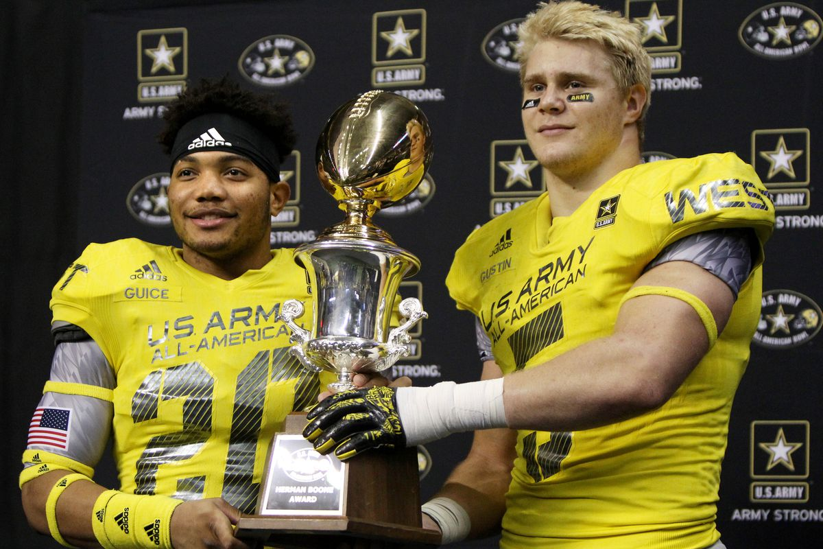 Porter Gustin (right) has given a commitment to USC, over Arizona State, Ohio State, and Utah.