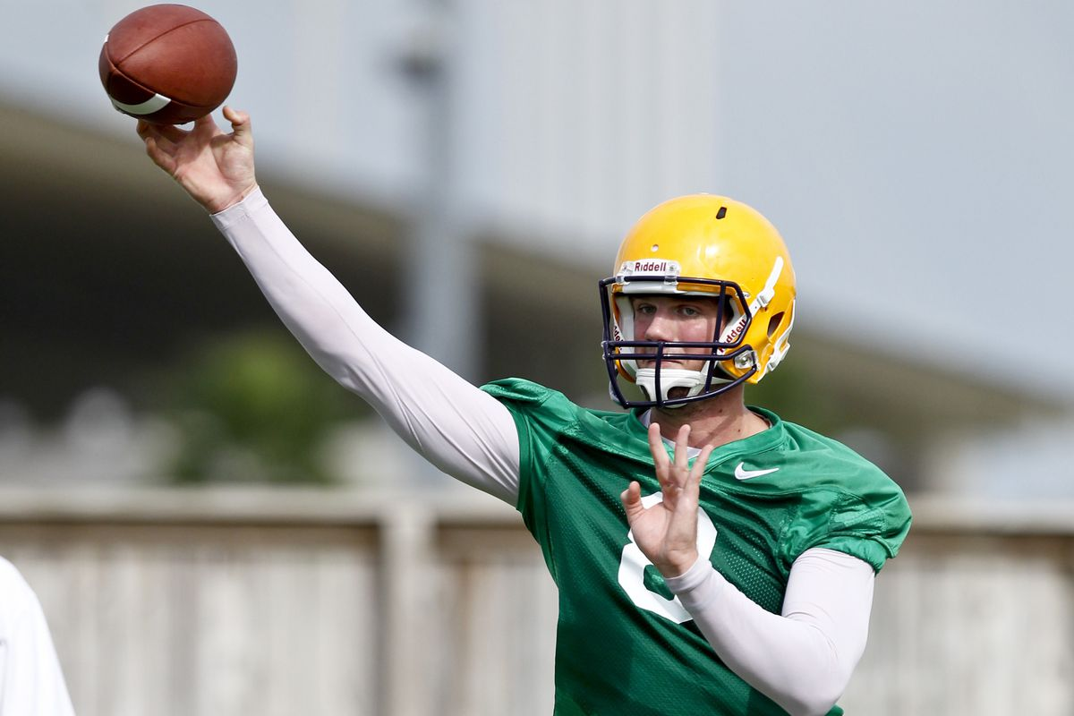 August 2, 2012; Baton Rouge, LA, USA;  LSU Tigers quarterback Zach Mettenberger (8) during the fall camp practice at the Charles McClendon Practice Facility.  Mandatory Credit: Derick E. Hingle-US PRESSWIRE