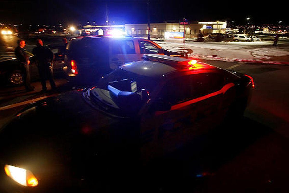 Police quarantine an Intermountain Instacare in Saratoga Springs.