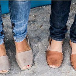 Avarcas Pons Sandals, $75—$85