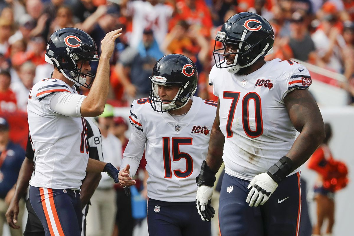 Bears kicker Pineiro suffers minor knee injury in weight room and is questionable for Redskins game