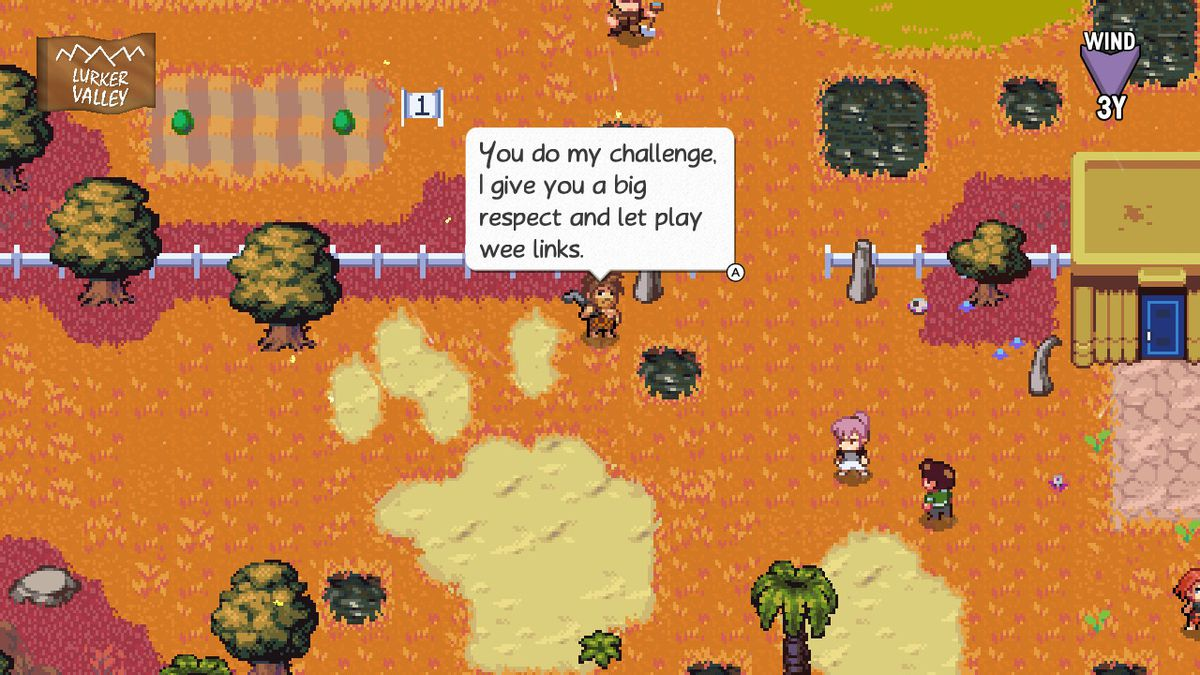 a challenge in golf story