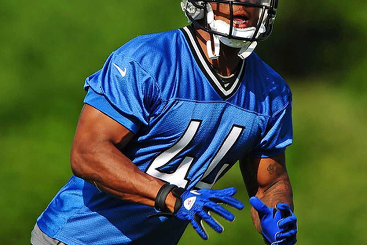 Detroit Lions running back Jahvid Best (44) during mini camp at Detroit Lions training facility. Mandatory Credit: Andrew Weber-US PRESSWIRE