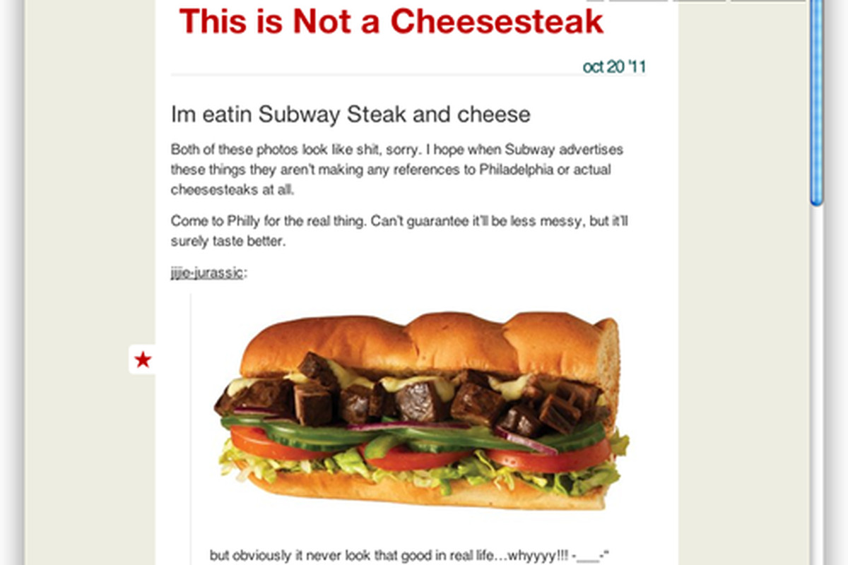 Website of the Day: This Is Not a Cheesesteak - Eater