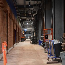 10:15 p.m. Another view of the left-field ground-level concourse/walkway (not yet open) -