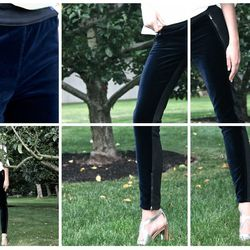 """<a href=""""http://www.goop.com/shop/stella-mccartney-exclusive-black-navy-jean.html"""">Exclusive Black and Navy Jean</a>, $695.00"""