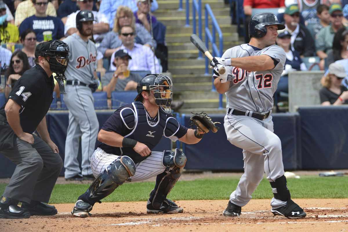 Tigers outfielder Tyler Collins.