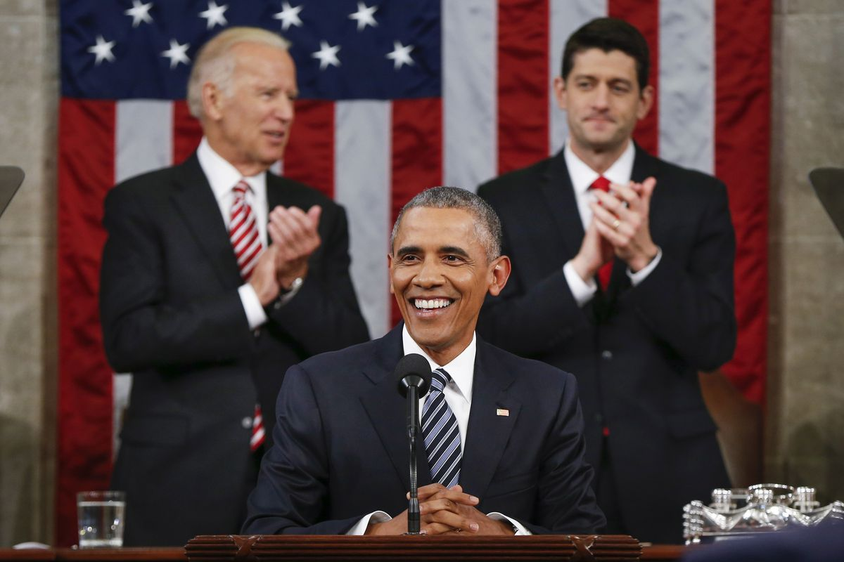 President Barack Obama gives his final State of the Union speech.