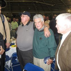 Billy Casper and Joe Sassano reunite 62 years after both entered Notre Dame as freshmen in 1950.