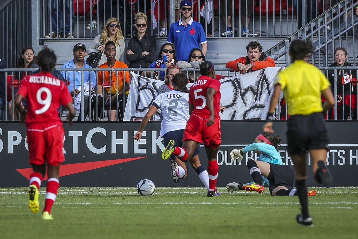 Canada V United States Women's Friendly Soccer Game